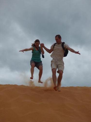 Mui Ne (Vietnam) - bílé písečné duny