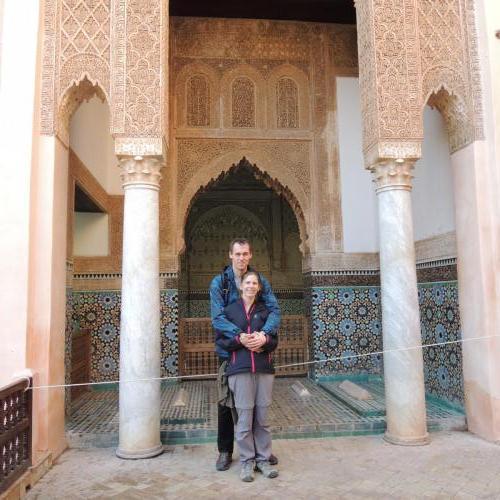 Marrákeš (Maroko) - Saadské hrobky